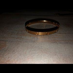 Rolse gold thin bracelet Carti